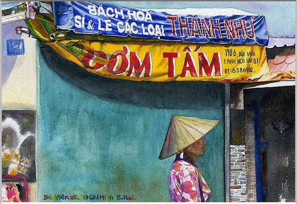 Việt Nam trong những bức tranh của họa sĩ Satoshi Kudo  12091419