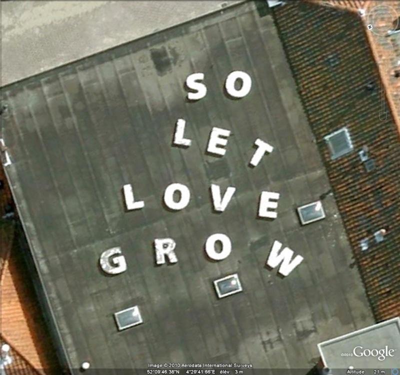 """Ecriture """"So Let Love Grow"""" à Leiden ( Pays-Bas ) Acritu11"""