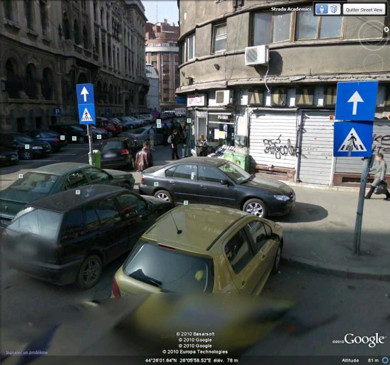 STREET VIEW : voiture bloquée à Bucarest ( Roumanie ) Bloqua10