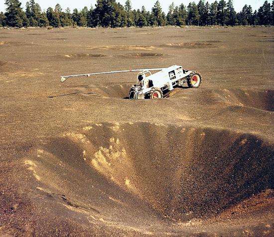 Un morceau de la mer de Tranquilité de 1.6 km² près de Flagstaff - Etats-Unis Lune-a14