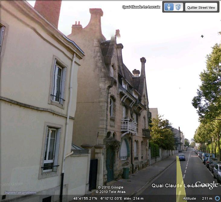 STREET VIEW : les maisons art nouveau  Maison11
