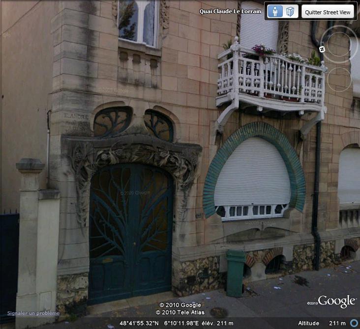 STREET VIEW : les maisons art nouveau  Maison12