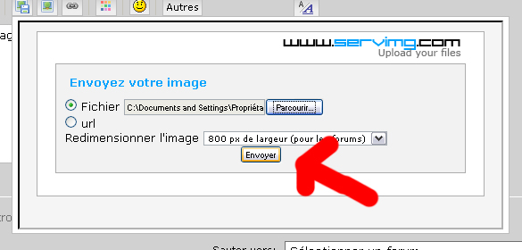Comment met-on une photo sur le forum? Clicsu10