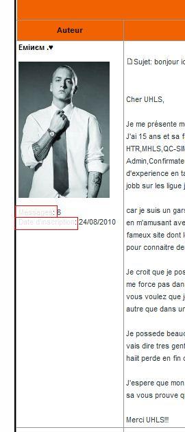 Comment changer la couleur du texte....voir print screen Forum12