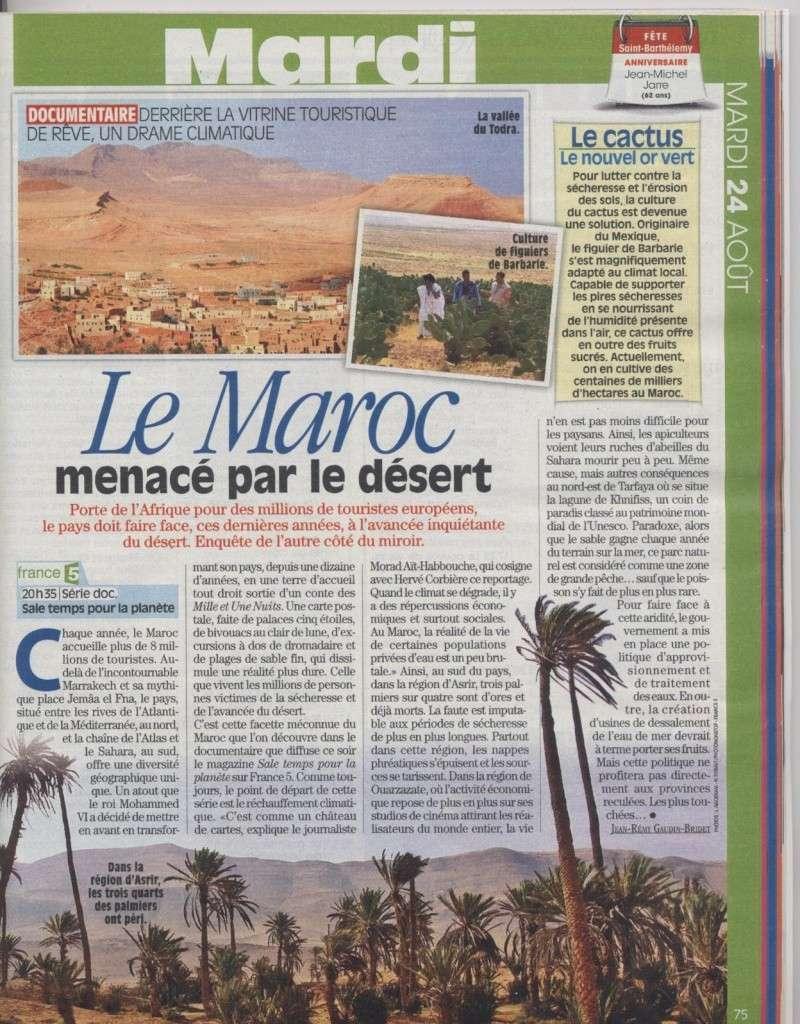 Le Maroc menacé par le désert. Secher10