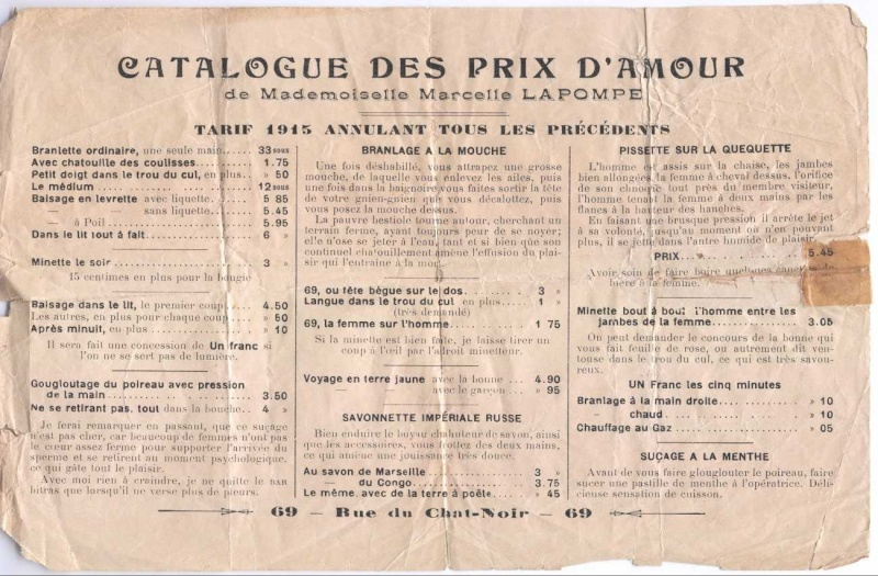 Les prix de l'Amour en 1915...! Att36410