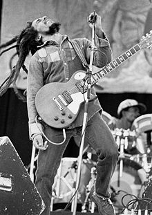 """Robert Nesta """"Bob"""" Marley, OM (6 February 1945 – 11 May 1981) was a Jamaican singer-songwriter and musician 220px-11"""