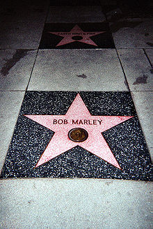 """Robert Nesta """"Bob"""" Marley, OM (6 February 1945 – 11 May 1981) was a Jamaican singer-songwriter and musician 220px-12"""