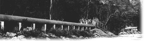 It was the largest pipe in the world - 6,200 feet long Thetub10