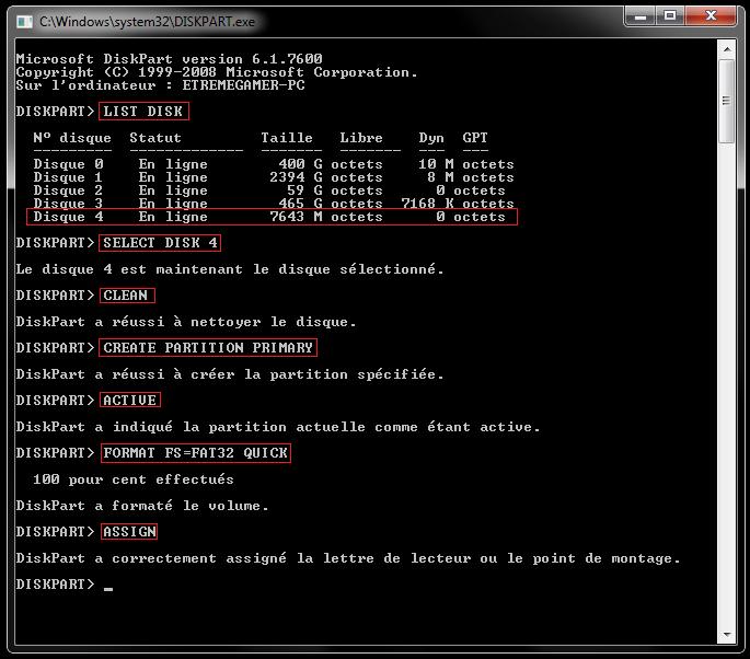Comment créer une clé usb bootable pour installer windows 7 ou 8 sur une machine sans lecteur DVD 811