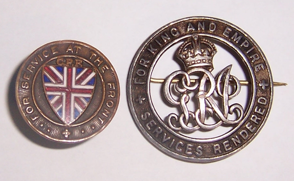 """WW1 """"CPF"""" Class A and a Class B Badge 100_6410"""