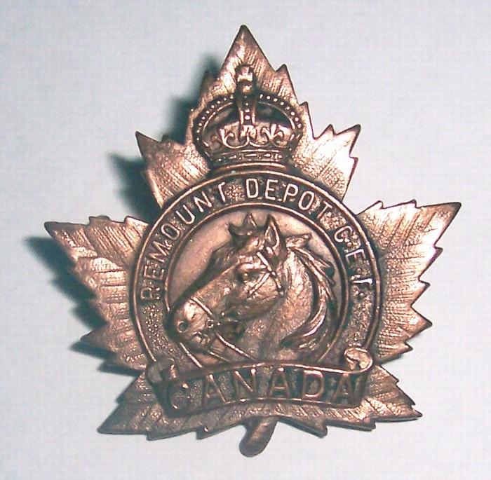 CEF Remount Depot Cap Badge Remoun10
