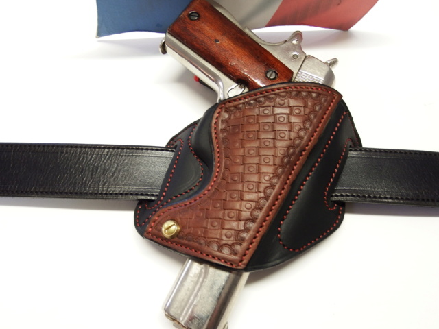 "HOLSTER CUIR type ""BAND AID"" by La SELLERIE  Dscf1633"