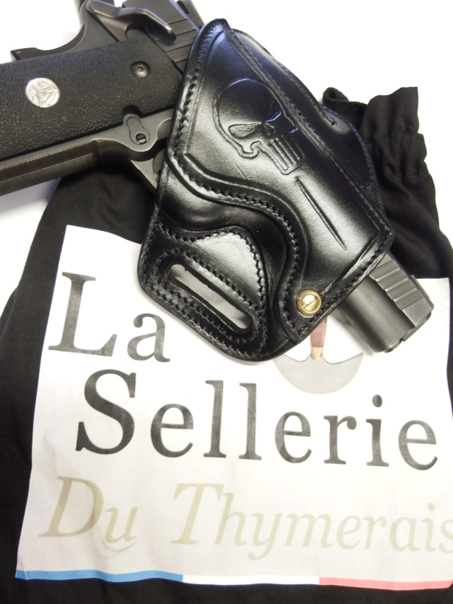 """HOLSTER CUIR type """"BAND AID"""" by La SELLERIE  Dscf2947"""