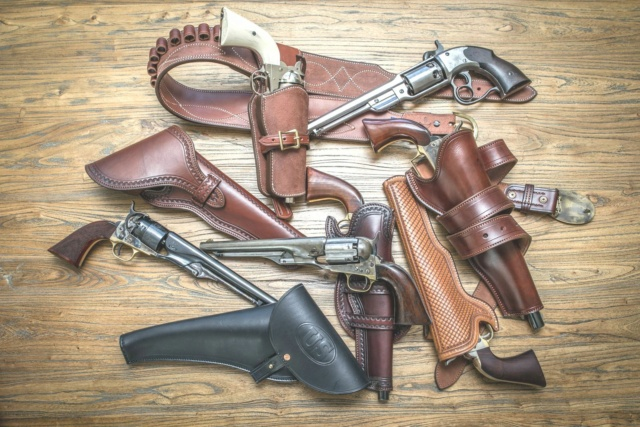 "HOLSTERS CUIR  ""OLD WEST"" by la SELLERIE Gzonzo10"