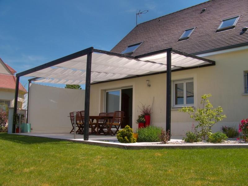toile d 39 ombrage sur ma terrasse bois. Black Bedroom Furniture Sets. Home Design Ideas