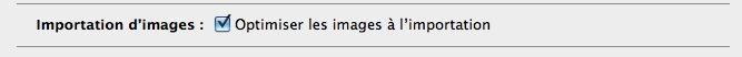 Le poids des images & photos dans iWeb Optimi10