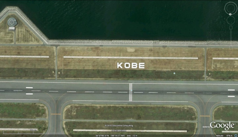 Les inscriptions et écritures sur aérodromes et aéroports - Page 2 Kobe_j10