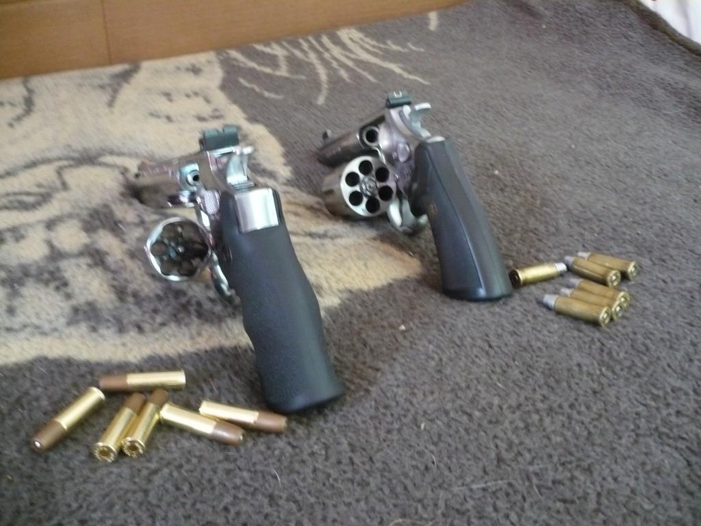 "Comparatif Dan Wesson 6"" vs .44 MAGNUM 4"" P1020536"