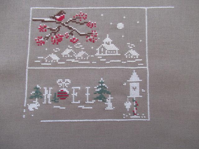 couleur d'étoile Au fil de de Noël 3ème étape brodée 201120 2zome_11