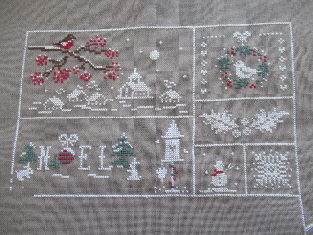 couleur d'étoile Au fil de de Noël 3ème étape brodée 201120 3zome_12