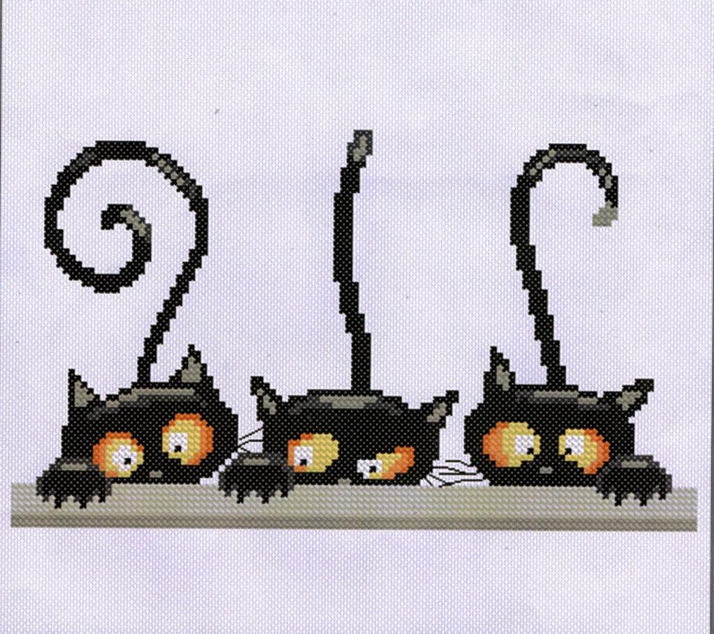les 3 chats ou les curieux :boites faites Broder13