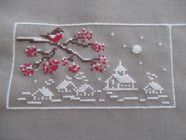 couleur d'étoile Au fil de de Noël 3ème étape brodée 201120 Img_3727