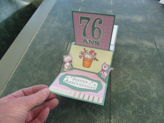 Carte anniversaire pour ma belle soeur Françoise qui adore les chats Img_7512