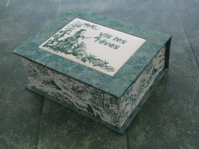 SAL toile de jouy  broderies terminées, tissus choisis, boites faites FIN  Img_9338