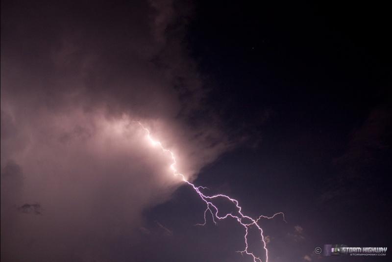 Show di fulmini nel sud dell'Illinois Aug15111