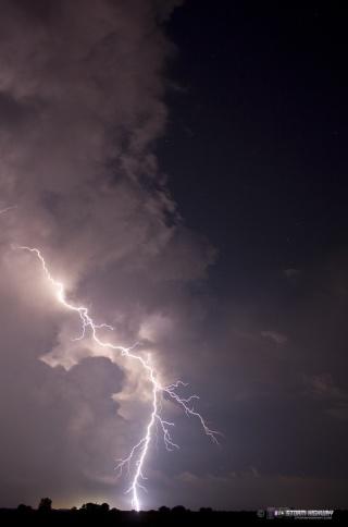 Show di fulmini nel sud dell'Illinois Aug15112