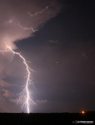 Show di fulmini nel sud dell'Illinois Aug15113