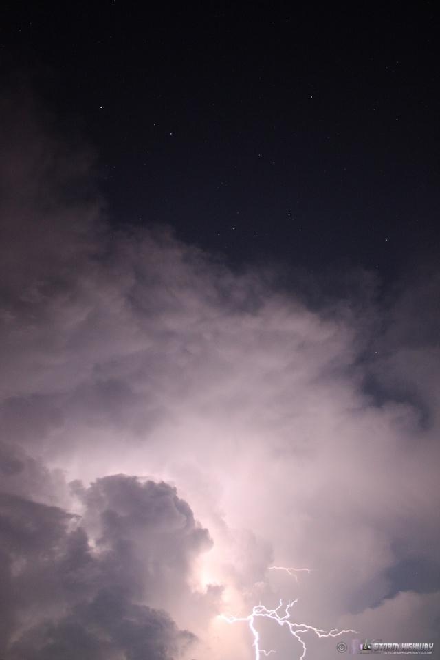 Show di fulmini nel sud dell'Illinois Aug15122