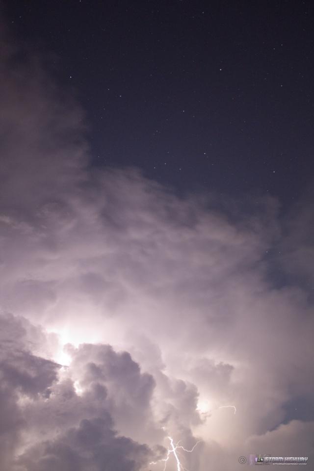 Show di fulmini nel sud dell'Illinois Aug15123