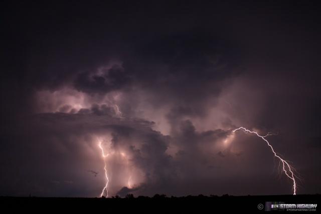 Show di fulmini nel sud dell'Illinois Aug15124