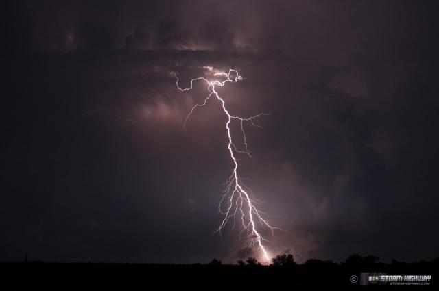 Show di fulmini nel sud dell'Illinois Aug15126
