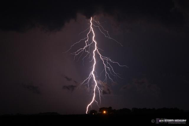 Show di fulmini nel sud dell'Illinois Aug15129