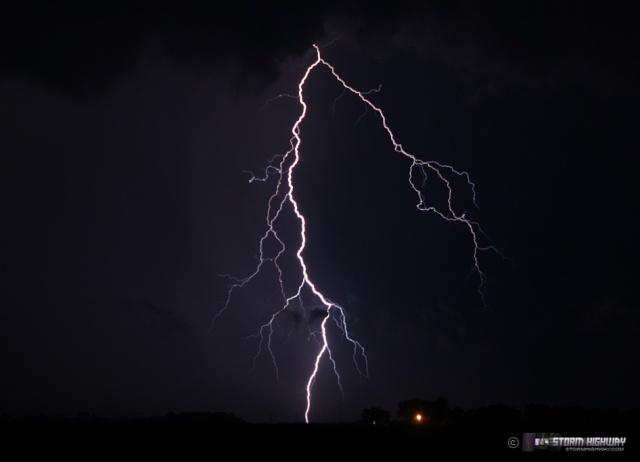 Show di fulmini nel sud dell'Illinois Aug15130