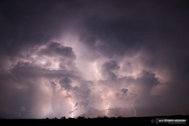 Show di fulmini nel sud dell'Illinois Aug15131