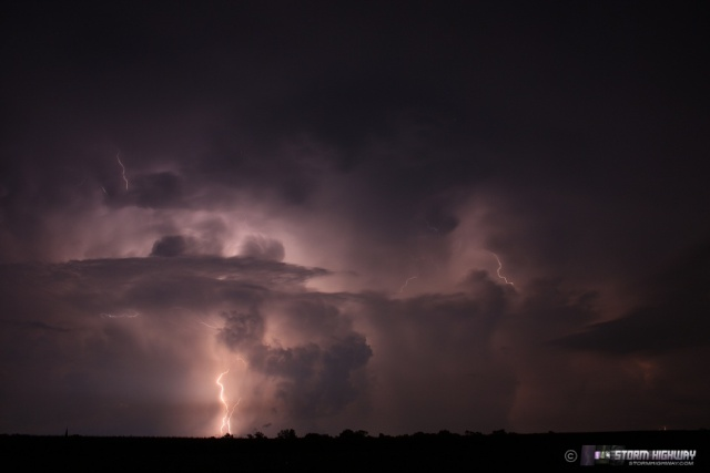 Show di fulmini nel sud dell'Illinois Aug15132