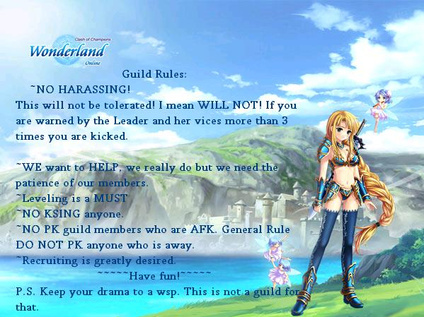 Guild Rules