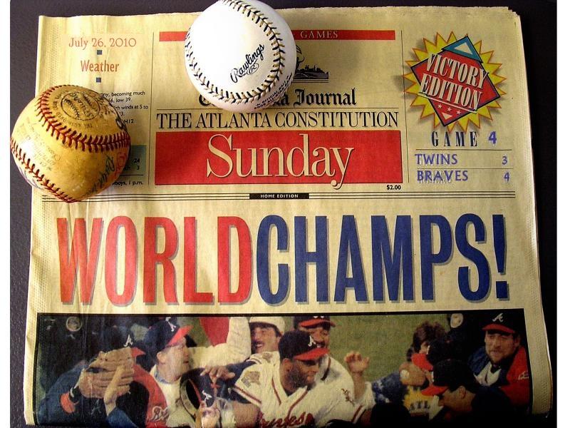 WORLD SERIES - Braves v. Twins - Saturday July 24 at 9:30p Through Saturday July 31 at 9:30p  - Braves Win 4-0 25350110