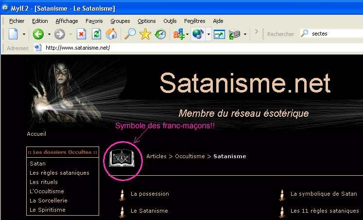 SYNCHRONICITÉ DES SYMBOLES DU SATANISME ET DE LA FRANC-MAÇONNERIE ! Satani10