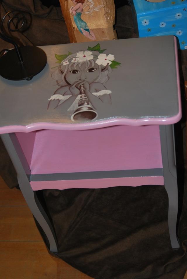 un jour j'ai recuperer une table de chevet.... Photos10