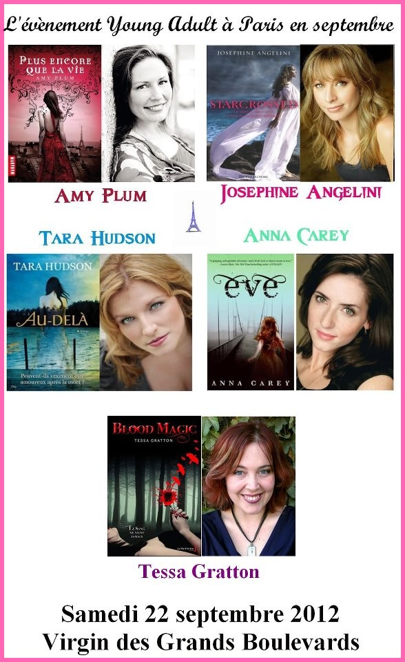 Rencontre-dédicace avec Amy Plum, Tessa Gratton, Tara Hudson, Josephine Angelini et Anna Carey Evenem10