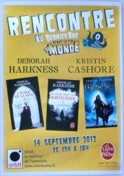 Rencontre avec Deborah HARKNESS et Kristin CASHORE - Paris 14 septembre 2012 Rencon10