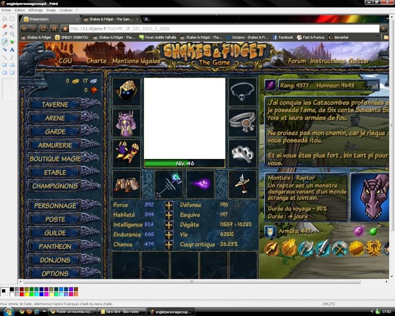 Importer votre avatar de S&F ici sur le forum avec paint de windows Onglet15