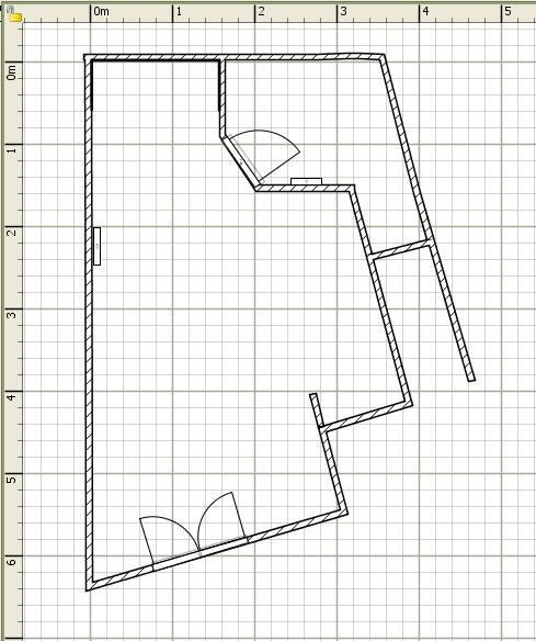 résultats en photo / studio en location : pièce à vivre Plan_s10