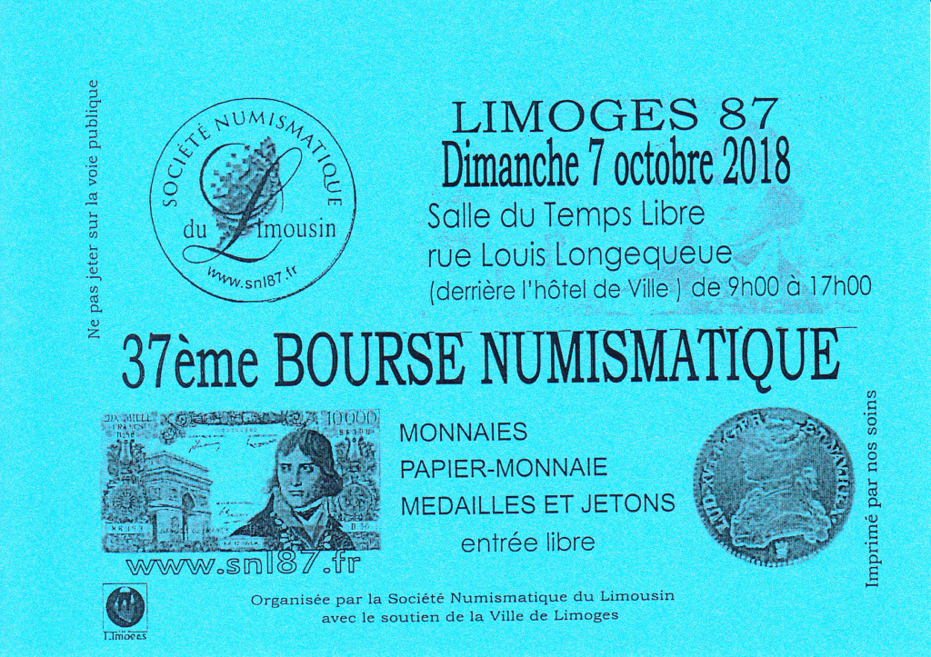 Limoges - Bourse Numismatique Affich10