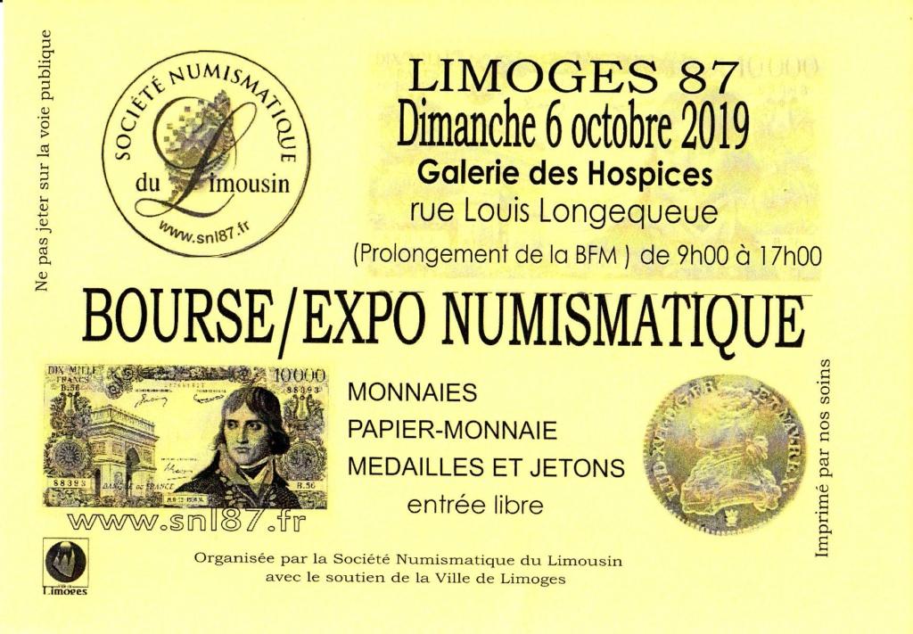 Bourse numismatique à Limoges Affich11